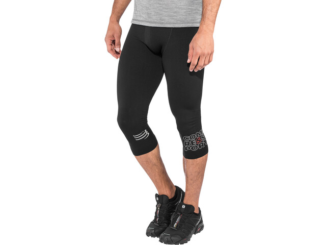 Compressport Running Under Control Leggings jambes 3/4, black
